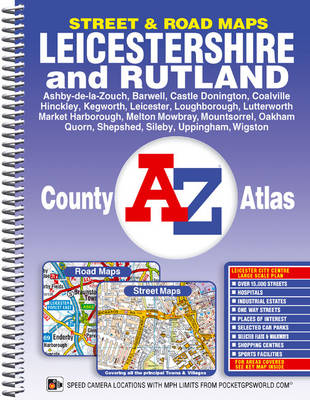 Leicestershire County Atlas - A-Z County Atlas (Spiral bound)