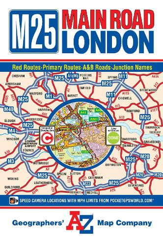M25 Main Road Map of London - A-Z Road Map (Sheet map, folded)