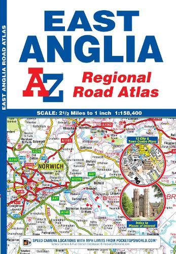 East Anglia Regional Road Atlas (Paperback)