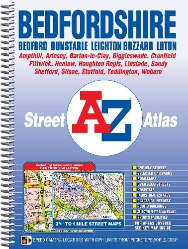 Bedfordshire County Atlas - A-Z County Atlas (Spiral bound)