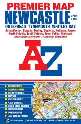 Newcastle Premier Map - A-Z Premier Street Maps (Sheet map, folded)