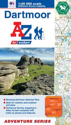 Dartmoor Adventure Atlas - A-Z Adventure Atlas (Paperback)