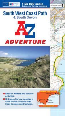 SW Coast Path South Devon Adventure Atlas - A-Z Adventure Atlas (Paperback)