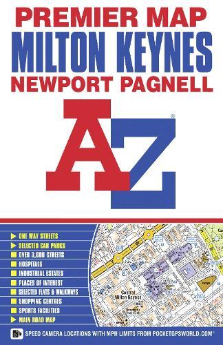 Milton Keynes Premier Map - A-Z Premier Street Maps (Paperback)