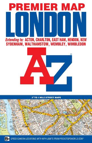 London Premier Map - A-Z Premier Street Maps (Sheet map, folded)