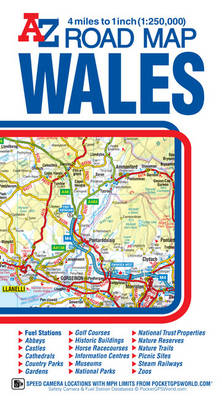 Wales Road Map by Geographers\' A-Z Map Company | Waterstones