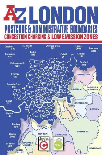 London Postcode & Administrative Boundaries Map (Sheet map, folded)