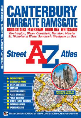 Canterbury, Margate & Ramsgate Street Atlas - A-Z Street Atlas (Paperback)