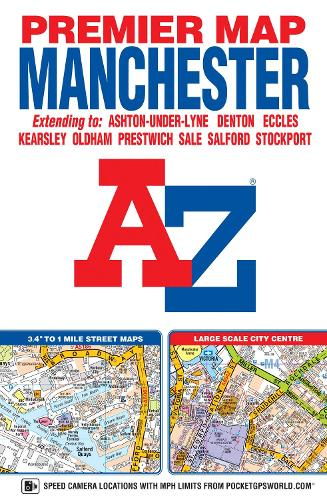 Manchester Premier Map - A-Z Premier Street Maps (Sheet map, folded)