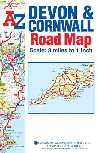 Devon & Cornwall Road Map by Geographers\' A-Z Map Company ...