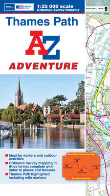 Thames Path Adventure Atlas - A-Z Adventure Atlas (Paperback)