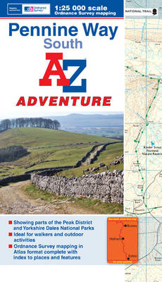 Penine Way (South) Adventure Atlas - A-Z Adventure Atlas (Paperback)