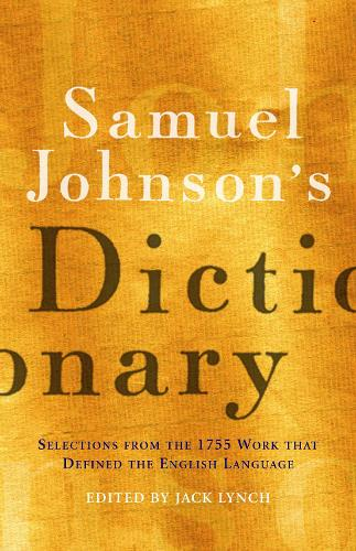 Samuel Johnson's Dictionary (Hardback)