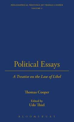 Political Essays - The Thoemmes Library of American Thought 21 (Hardback)
