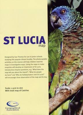 St. Lucia Map (Sheet map, folded)