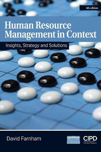 Human Resource Management in Context: Insights, Strategy and Solutions (Paperback)
