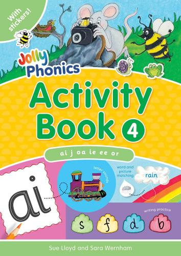 Jolly Phonics Activity Book 4: In Precursive Letters (British English edition) - Jolly Phonics: Activity Book (Paperback)