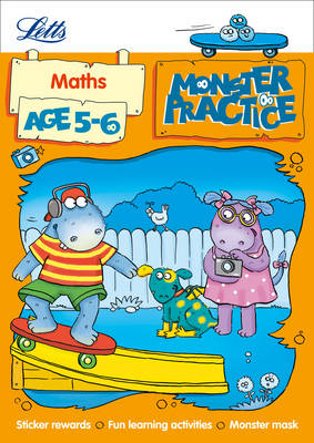 Maths Age 5-6 - Letts Monster Practice (Paperback)