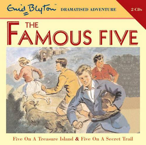 Famous Five on Treasure Island and Famous Five on Secret Trail: AND Five on a Secret Trail - Famous Five v. 1 (CD-Audio)