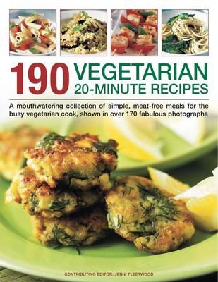 190 Vegetarian 20 Minute Recipes (Paperback)