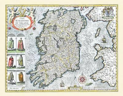 "John Speed Map of Ireland 1611: 20"" x 16"" Photographic Print of Ireland (Sheet map, flat)"