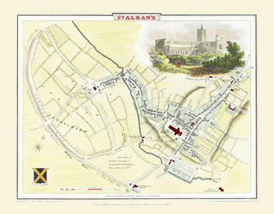 "Cole and Roper Old Map of St Albans 1810: 20"" x 16"" Photographic Print of St Albans (Sheet map, flat)"