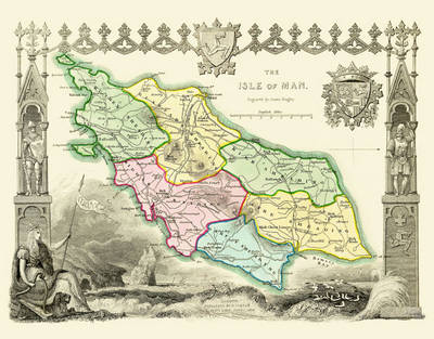"""Thomas Moule Map of the Isle of Man 1836: 20"""" x 16"""" Photographic Print of the Isle of Man (Sheet map, flat)"""