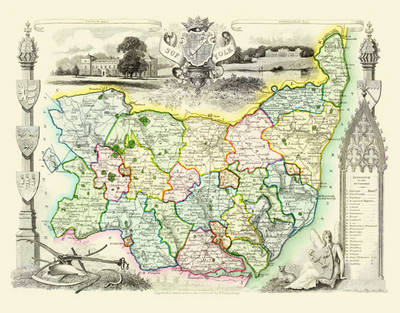 Suffolk County England Map.Thomas Moule Map Of Suffolk 1836 By Thomas Moule Waterstones