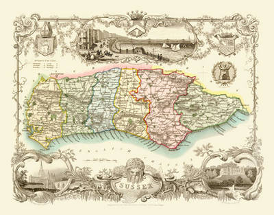 Thomas Moule Map Of Sussex 1836 By Thomas Moule Waterstones