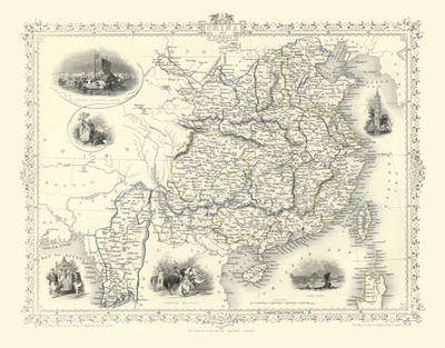 "John Tallis Map of China 1851: 20"" x 16"" Photographic Print  (Sheet map, rolled)"