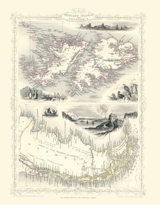 John Tallis Map of Falkland Islands 1851: Photographic Print of Map of Falkland Islands 1851 by John Tallis (Sheet map, flat)