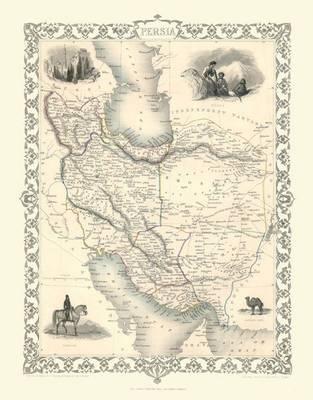 John Tallis Map of Persia 1851: Photographic Print of Map of Persia 1851 by John Tallis (Sheet map, flat)