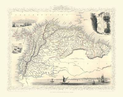 John Tallis Map of Venezuela 1851: Photographic Print of Map of Venezuela 1851 by John Tallis (Sheet map, flat)