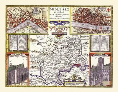 John Speeds Map of Middlesex 1611 (Sheet map, flat)