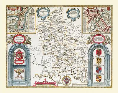 """John Speed Map of Buckinghamshire 1611: 30"""" x 25"""" Large Photographic Poster Print of the County of Buckinghamshire - England (Sheet map, rolled)"""