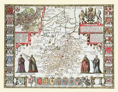 "John Speed Map of Cambridgeshire 1611: 30"" x 25"" Large Photographic Poster Print of the County of Cambridgeshire - England (Sheet map, rolled)"