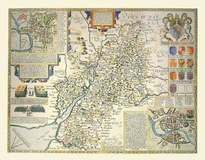 "John Speed Map of Gloucestershire 1611: 30"" x 25"" Large Photographic Poster Print of Gloucestershire - England (Sheet map, rolled)"
