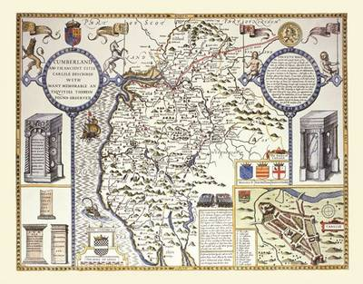 "John Speed's Map of Cumberland 1611: 30"" x 25"" Large Photographic Poster Print of Cumberland - England (Sheet map, rolled)"
