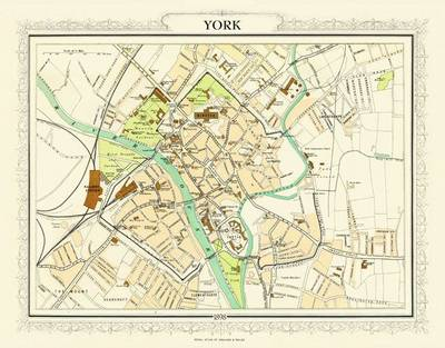 Map of York 1898: Photographic Print of Map of York 1898 (Sheet map, flat)