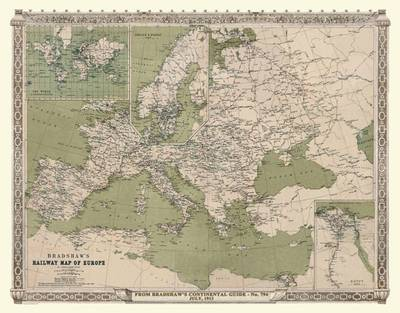 Bradshaws Continental Railway Map Of Europe 1913 By Mapseeker