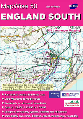 England South: All OS Landranger Maps of England South on CD - MapWise 50 S. (CD-ROM)