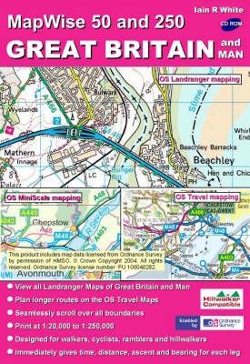 Great Britain and Man: All OS Landranger and Travel Maps of Great Britain and Man on CD - MapWise 50 S. (CD-ROM)