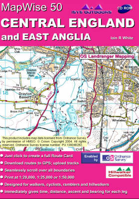 Central England and East Anglia: Interactive Ordnance Survey Mapping of Central England - MapWise 50 S. (CD-ROM)