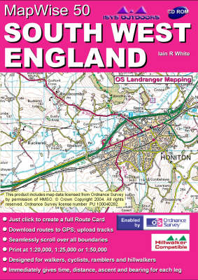 South West England: Interactive Ordnance Survey Landranger Maps on CD - MapWise 50 S. (CD-ROM)