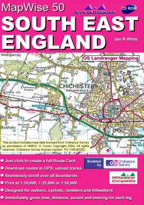 South East England: Interactive Ordnance Survey Landranger Maps on CD - MapWise 50 S. (CD-ROM)