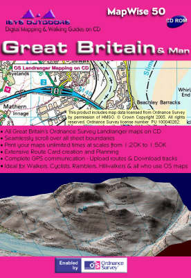 Great Britain and Man: Interactive Ordnance Survey Landranger and Travel Maps on DVD - MapWise 50 S. (DVD)