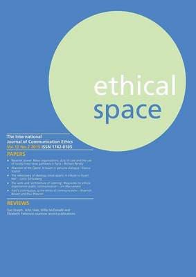 Ethical Space Vol.12 Issue 2 (Paperback)