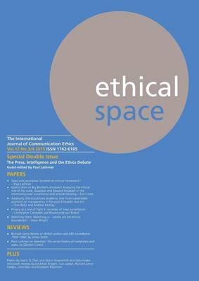 Ethical Space Vol.12 Issue 3/4 (Paperback)