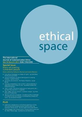 Ethical Space Vol.14 Issue 2/3 (Paperback)