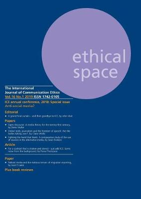 Ethical Space Vol.16 Issue 1 (Paperback)